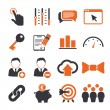 SEO icons set - Stock Vector
