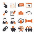 Stock Vector: SEO icons set