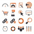 SEO icons sets — Stock Vector