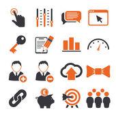 SEO icons set — Stock Vector