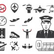 Airport icons set — Stock Vector #27794613