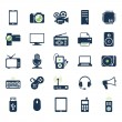Electronics and gadgets icons set — Stock Vector