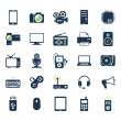 Stock Vector: Electronics and gadgets icons set