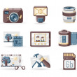 Photo Book icons set — Stock Vector