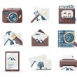 Stock Vector: Vintage photo icons