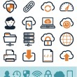 Cloud computing icons set — Stock Vector #27794651
