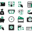 Money icons set — Stok Vektör
