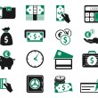 Money icons set — Imagen vectorial