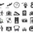 Airport icons set — Stock Vector #27794681