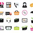 Shopping icons set — Vettoriali Stock