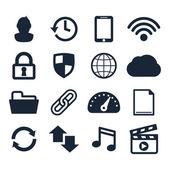 Computer dashboard icons — Stock Vector