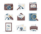 Vintage photo icons — Stock Vector