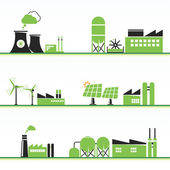ECO power icons — Stock Vector