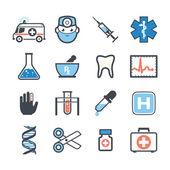 Ambulance icons — Stock Vector