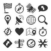 GPS and navigation icons set — Stock Vector