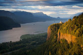 Panorama di Oregon - crown point columbia river — Foto Stock