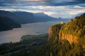 Oregon landscape - Crown Point Columbia river — Stock Photo