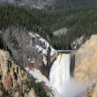 Yellowstone National Park - lower falls - Stock Photo