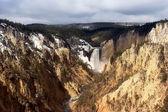 Lower falls of yellowstone — Stock Photo