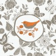 Vector de stock : Cute card with bird