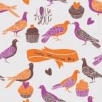 roztomilý holubů — Stock vektor #14817345