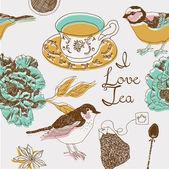 Čaj pozadí — Stock vektor