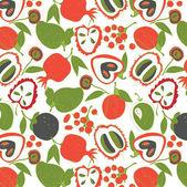 Fruit naadloze patroon — Stockvector