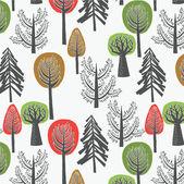 Skog — Stockvektor
