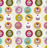 Sweet cake. seamless background — Stock Vector