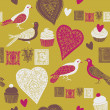 Valentine seamless background  — Grafika wektorowa