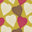 Vector de stock : Hearts. seamless pattern