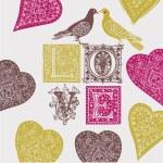 Love background — Wektor stockowy