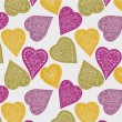 Colorful hearts. seamless pattern — Stock Vector