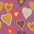 Hearts. seamless pattern — Image vectorielle