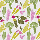 Vegetables. seamless pattern — Stock Vector