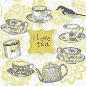 Tea background — Stock Vector