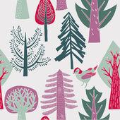 森林。シームレス パターン — ストックベクタ