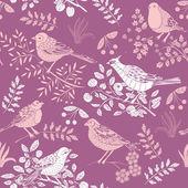 Summer garden with birds — Stock Vector