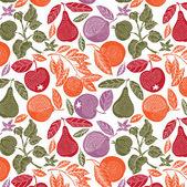 Jardín de frutas — Vector de stock