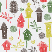 Birdhouses — Vector de stock