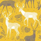 Colourful deers — Stock Vector