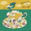 Stock Vector: Ocein teacup