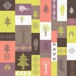 Christmas winter pattern — Stock Vector