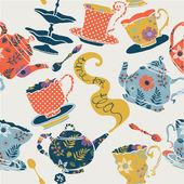 Tid för te — Stockvektor