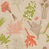 Herbs background — Cтоковый вектор