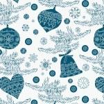 Christmas ornaments background — Vector de stock  #15319777