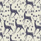 クリスマスの鹿 — ストックベクタ
