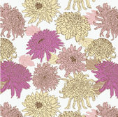 Flower seamless pattern — Stock Vector