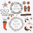 Set of Winter Christmas icons — Stock Vector #44144385