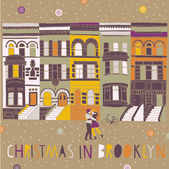 Christmas in Brooklyn — 图库矢量图片